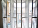 Plantation Shutters with T Post